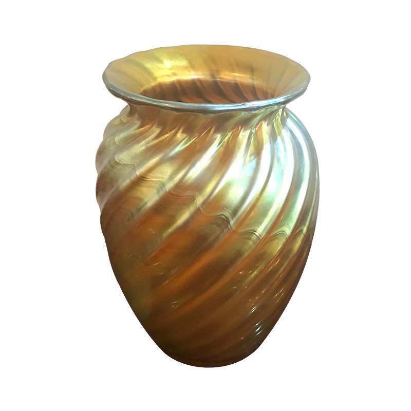 A Stunning Art Nouveau Tiffany Favrile Vase
