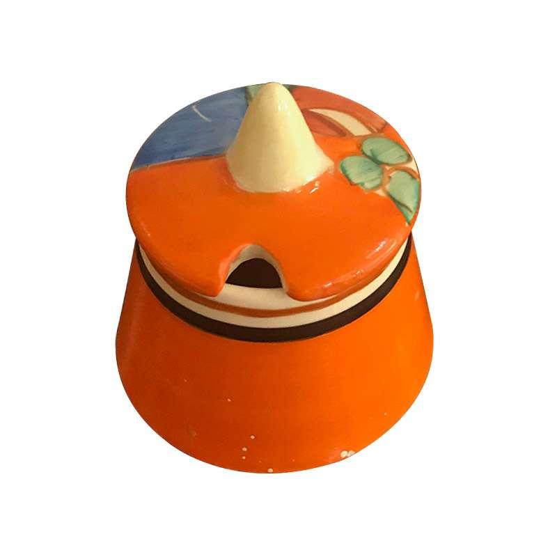 A Vibrant Clarice Cliff Mustard Pot