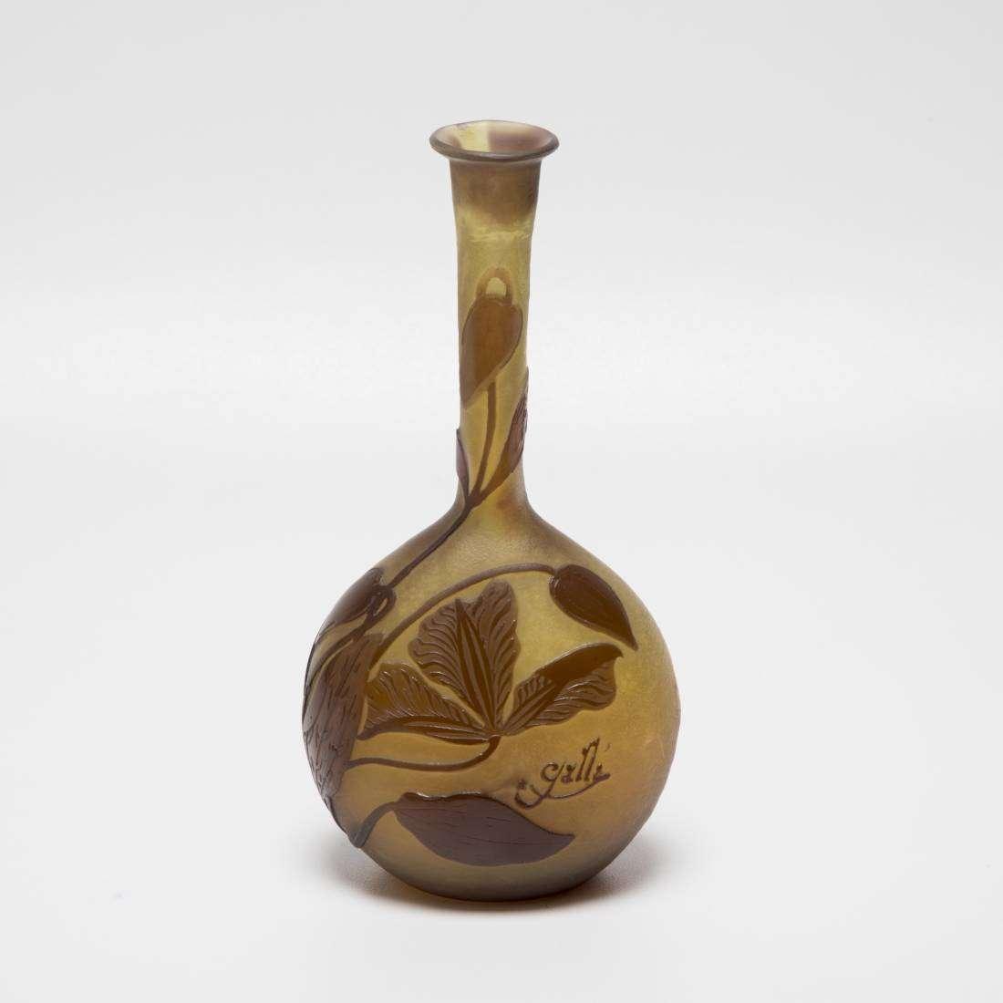 Emile Gallé Banjo Vase