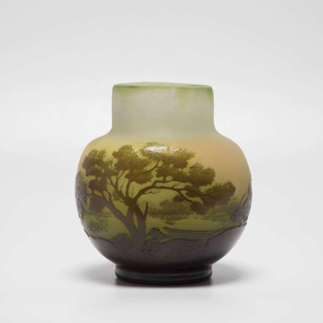 Emile Gallé Glass Vase