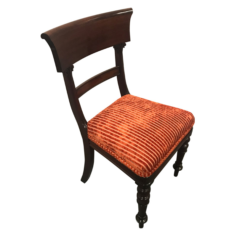 A SET OF 8 WILLIM IV DINING CHAIRS