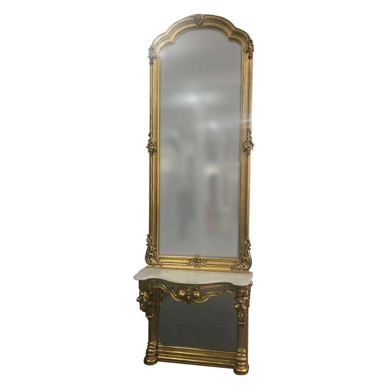 STYLISH 19TH CENTURY CONSOLE TABLE & MIRROR