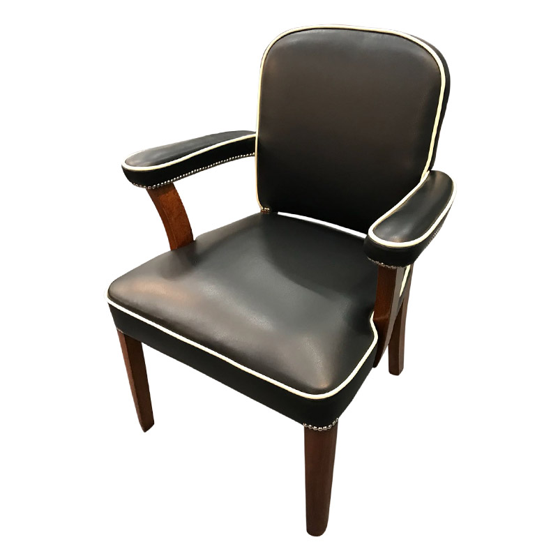 ART DECO LIBRARY CHAIR
