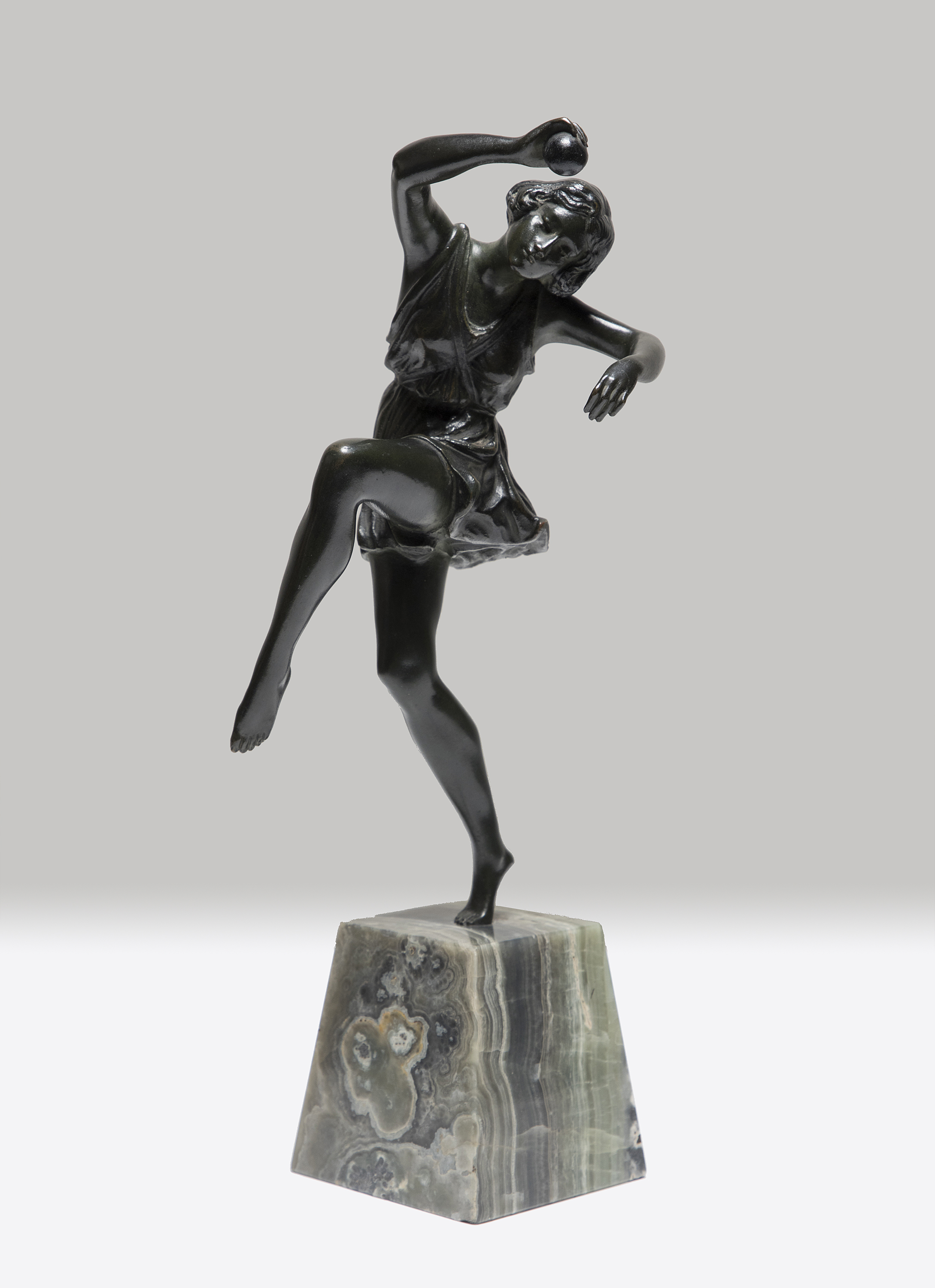 PIERRE Le FAGUAYS BRONZE BALL DANCER