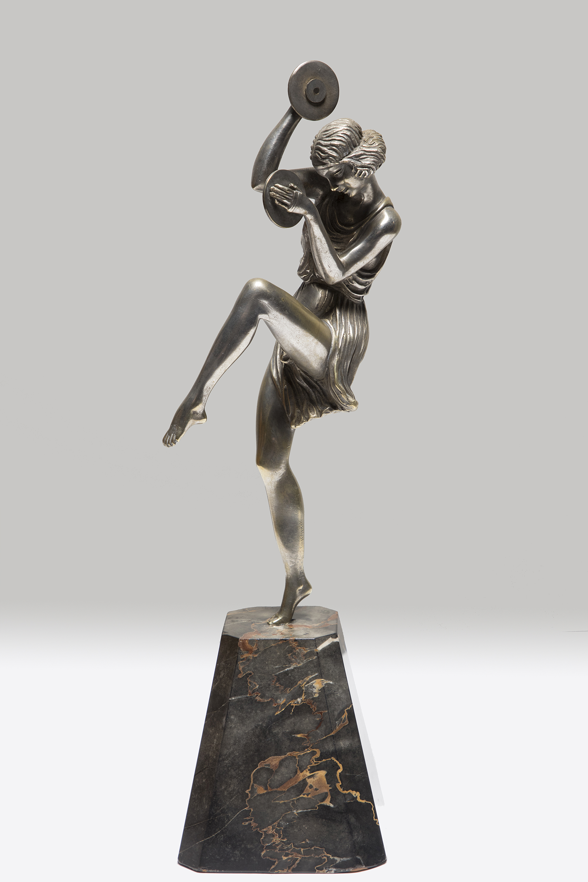 PIERRE Le FAGUAYS SILVERED BRONZE CYMBAL DANCER