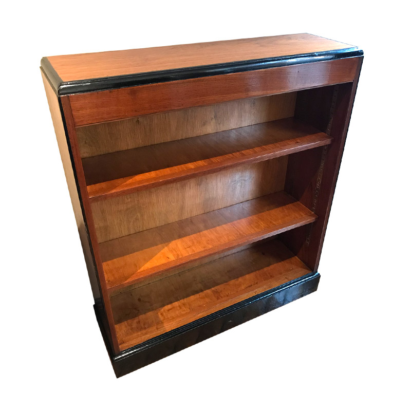 SLIM ART DECO OPEN BOOKCASE