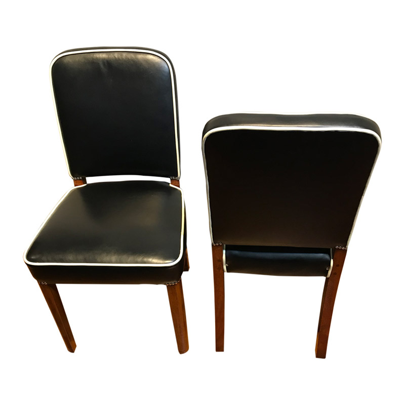 A PAIR OF ART DECO OCCASIONAL CHAIRS