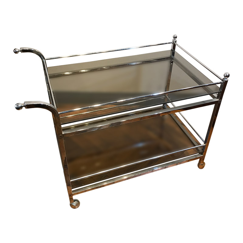 VINTAGE CHROME 2 TIER TROLLEY