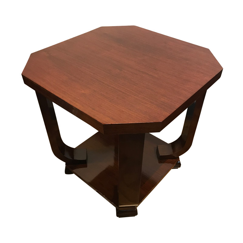 STYLISH ART DECO ROSEWOOD CENTRE TABLE