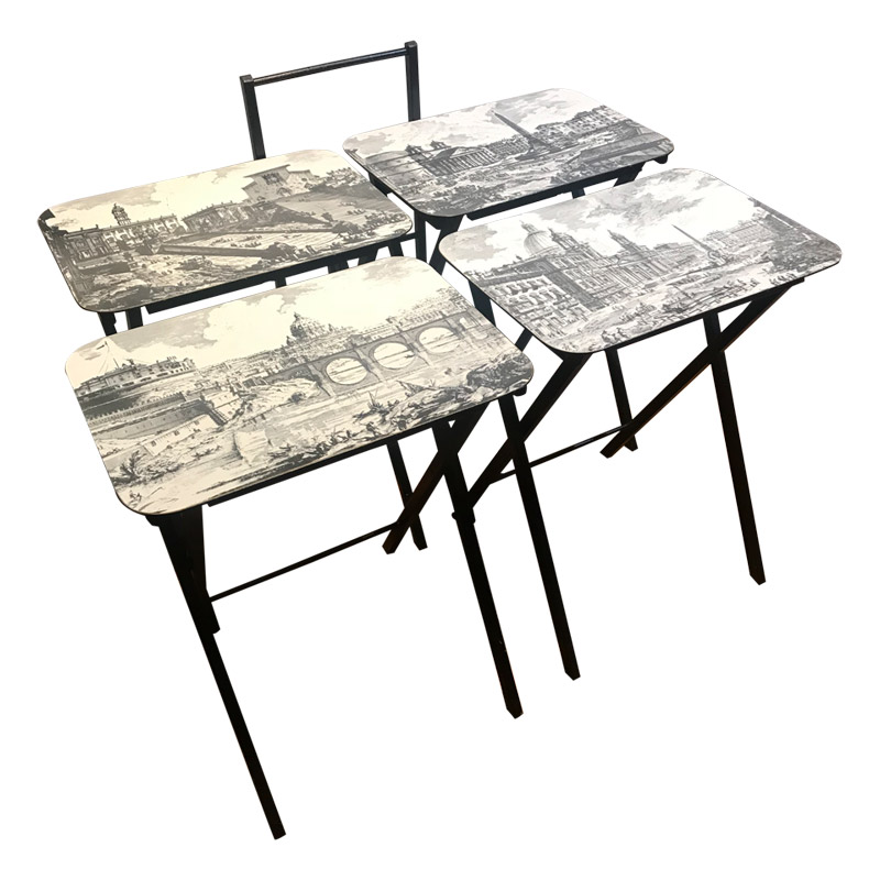 VINTAGE ARTEX NEST OF FOUR TABLES