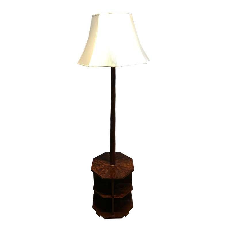 QUALITY ART DECO MAHOGANY STANDARD LAMP