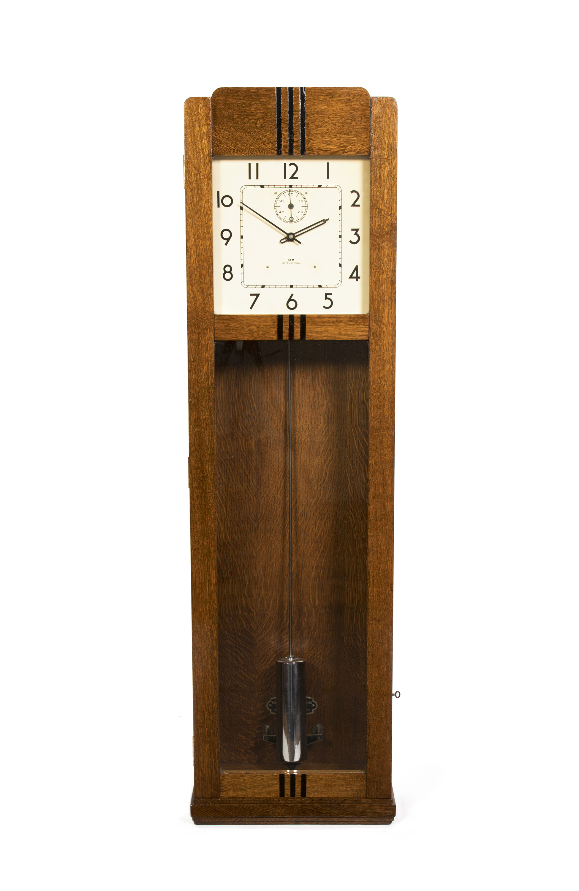 RARE ART DECO OAK REGULATOR