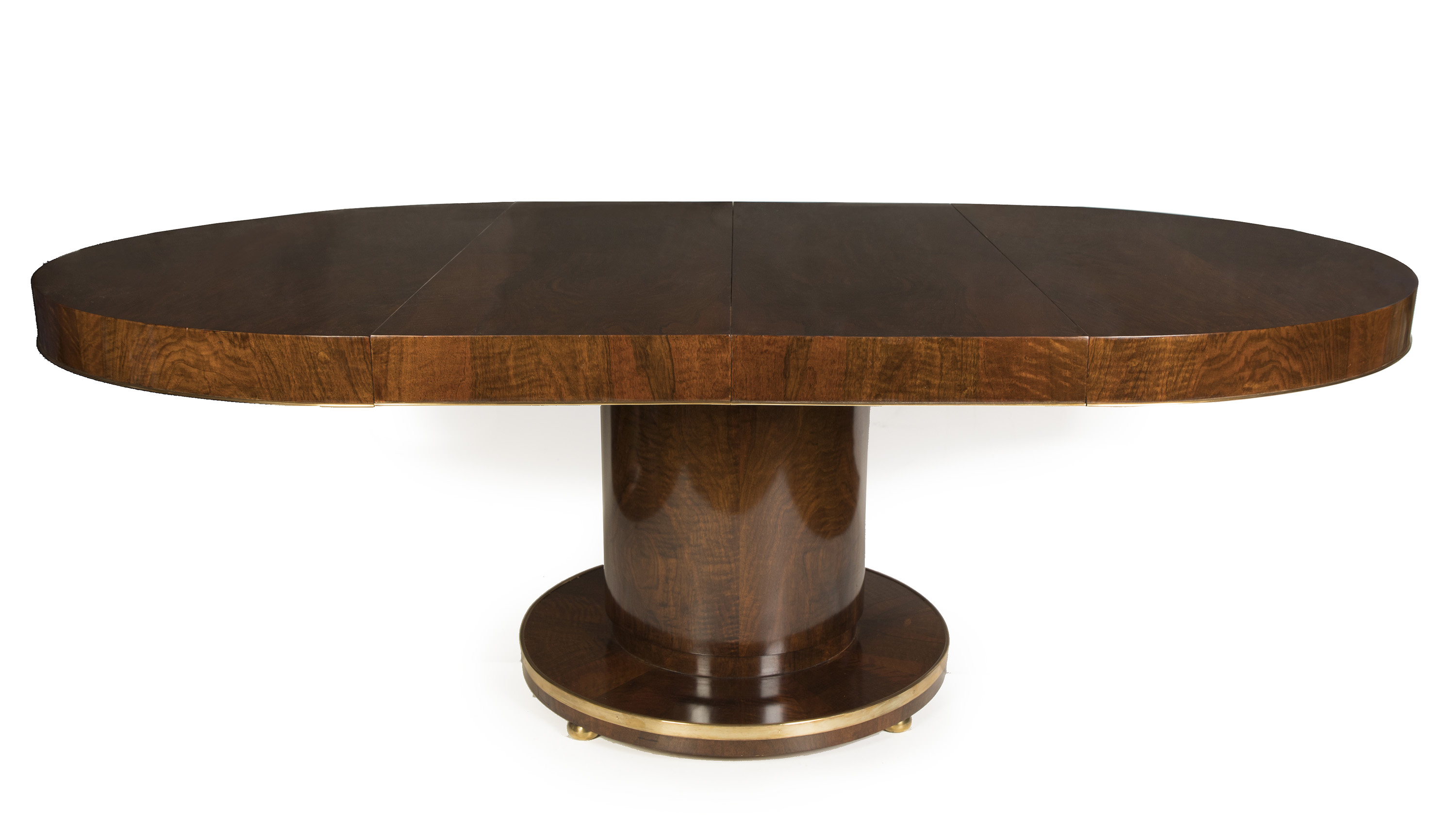 EXCEPTIONAL ART DECO WALNUT DINING TABLE