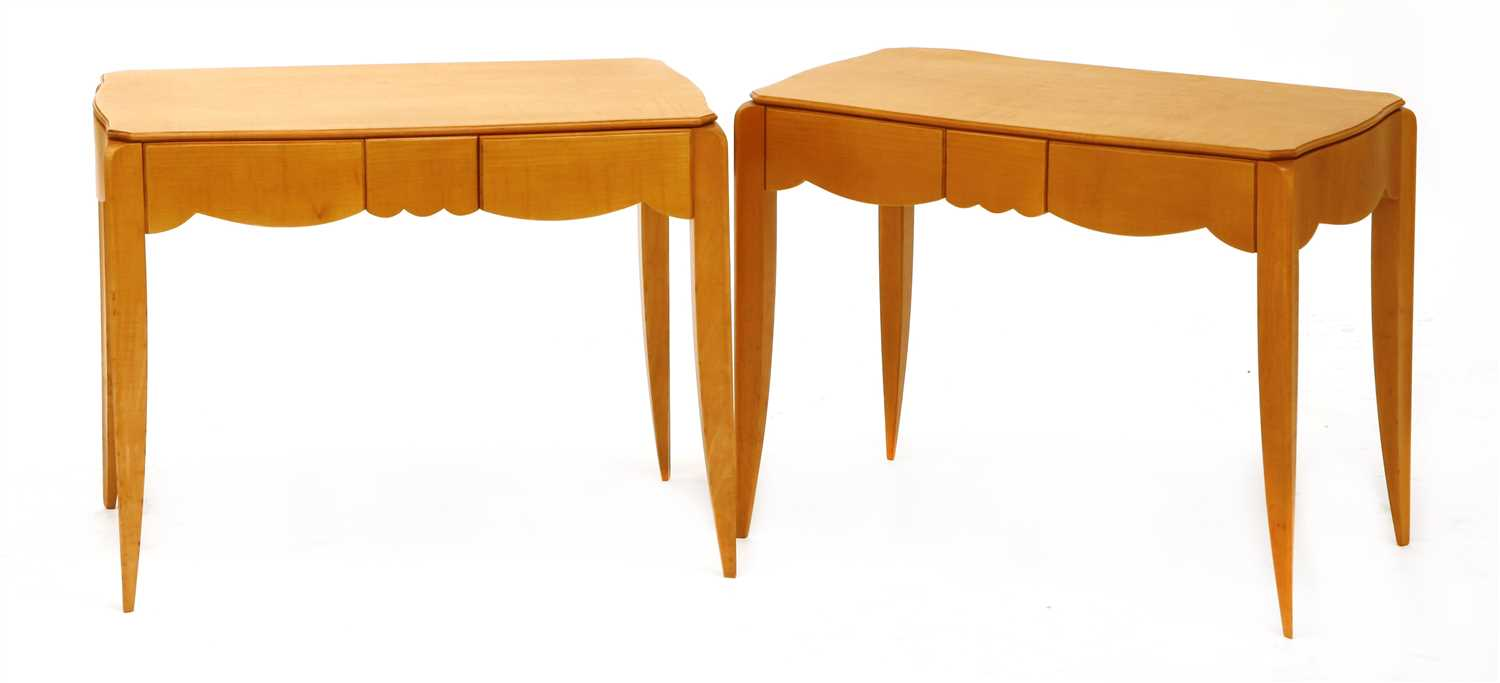 A Stylish Pair Of Art Deco Low Side Tables