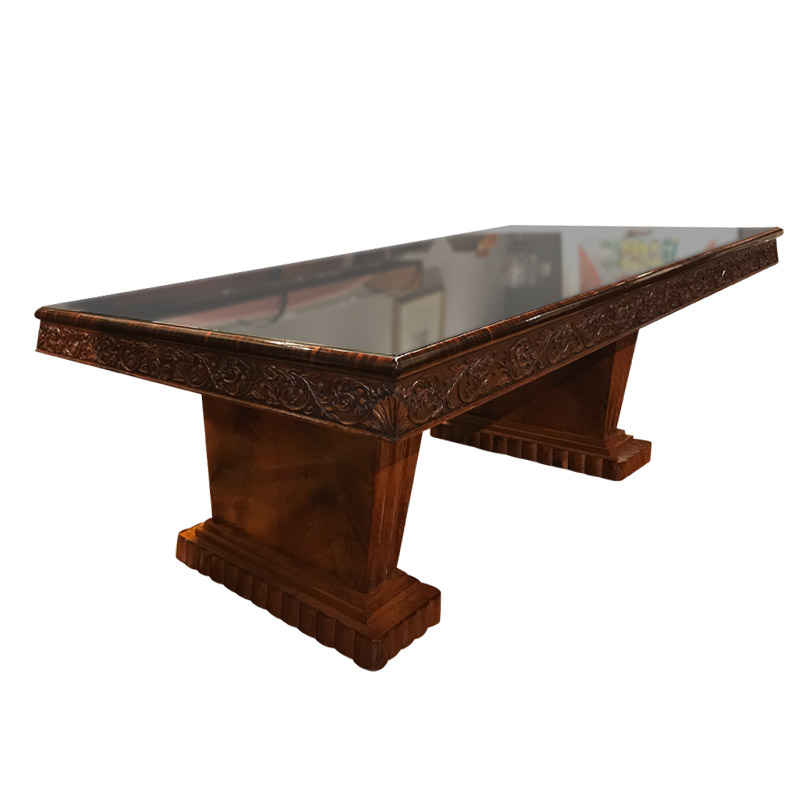 Spectacular Art Deco Central Writing Table