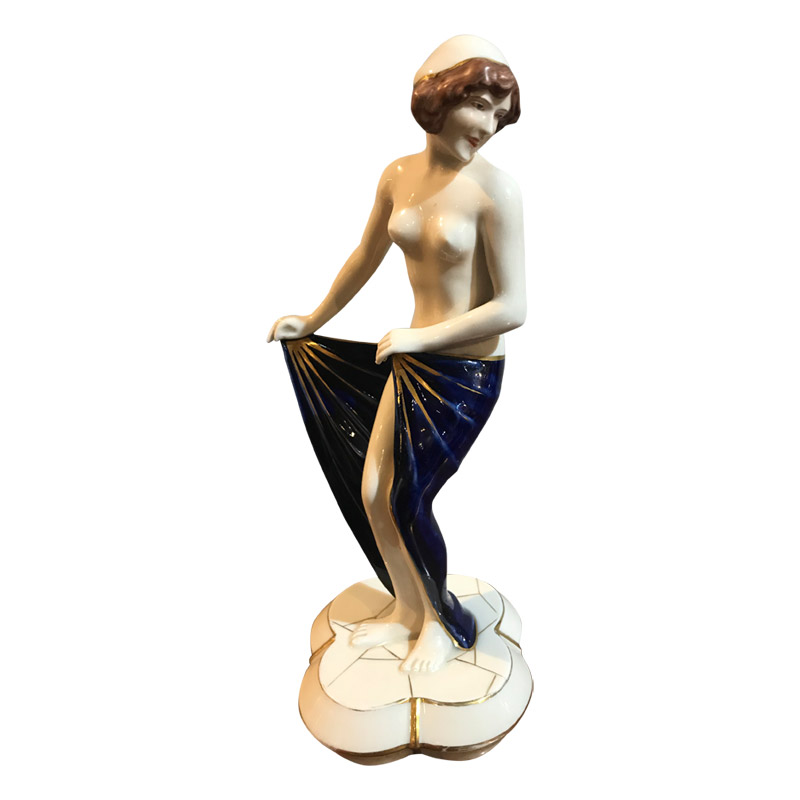 Art Deco Royal Dux Semi Nude Dancer
