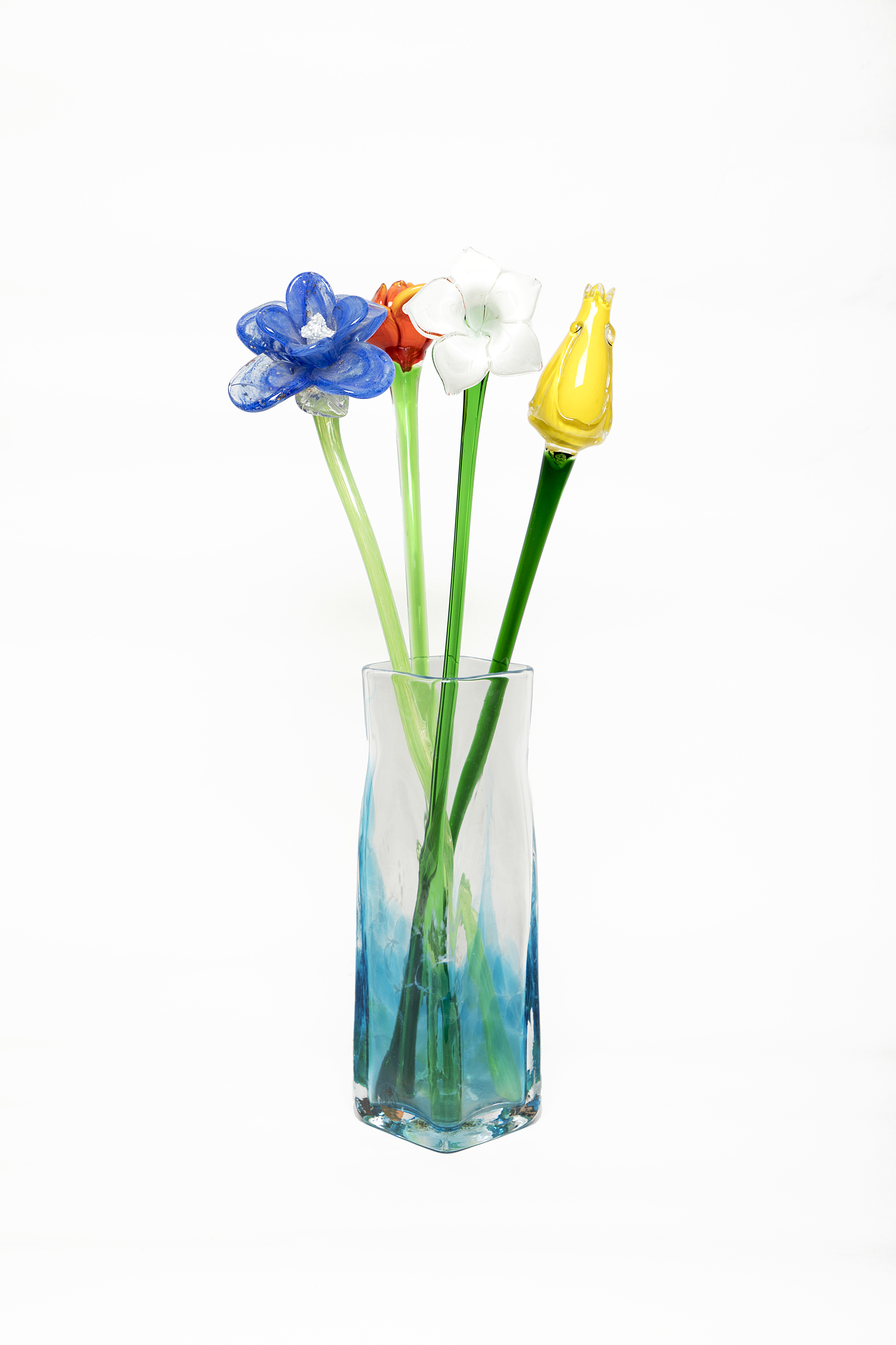 Very Quirky Glass Flowers of Various Colours