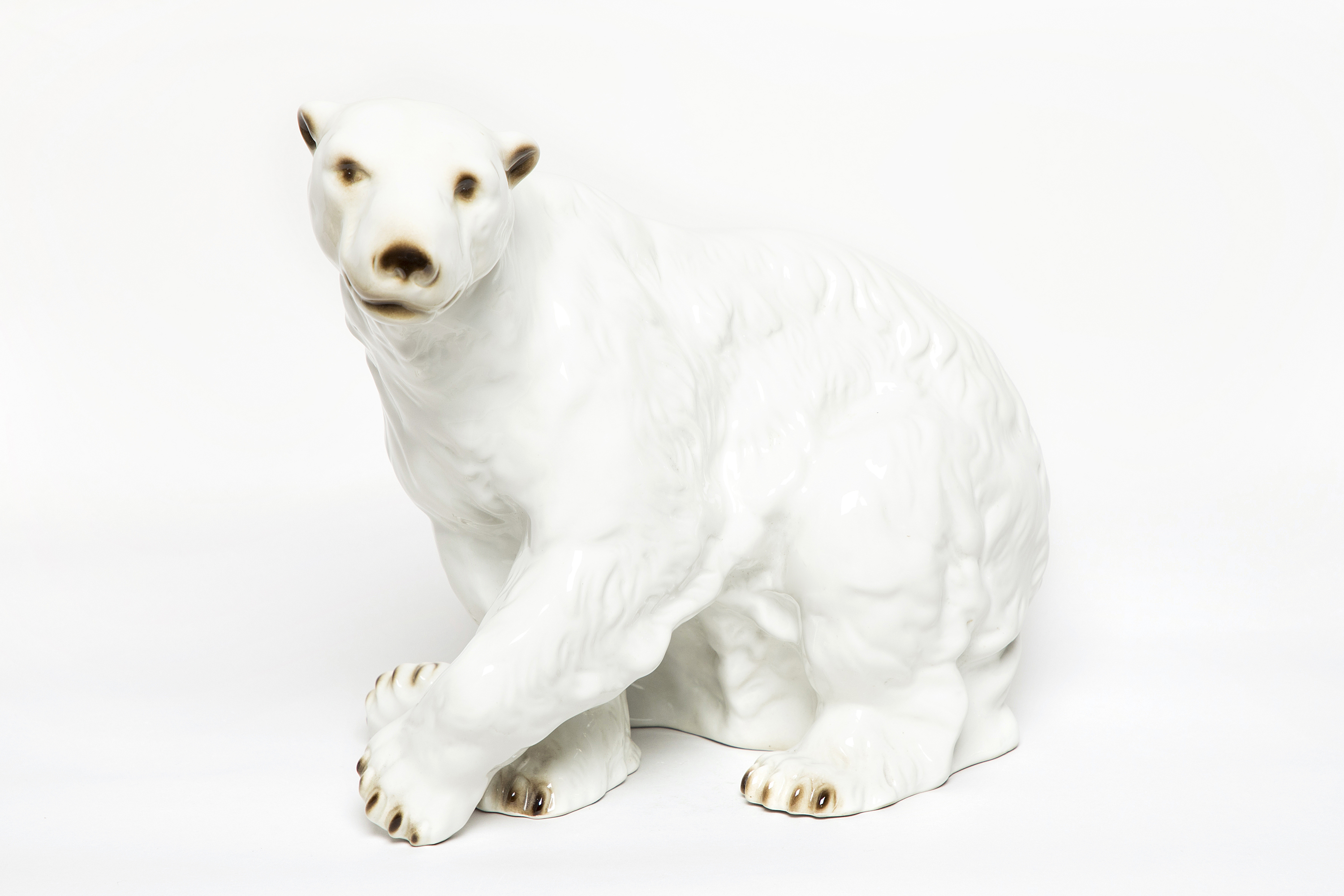 Royal Dux Glazed Polar Bear