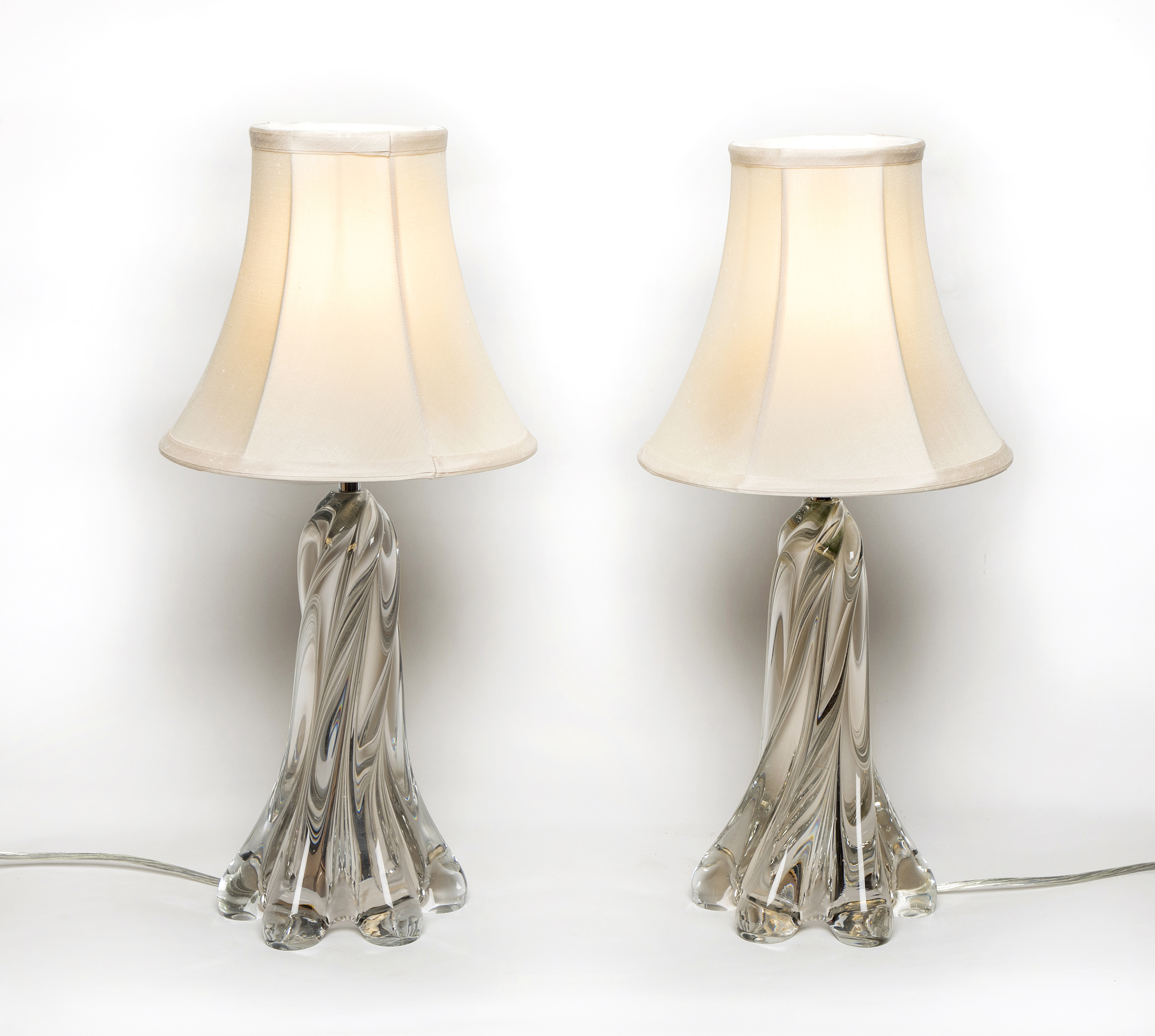 A Stylish Pair Spiral Body Occasional Lamps