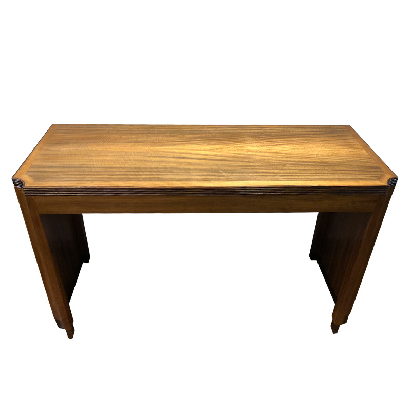 Stylish Art Deco Solid Walnut Side Table