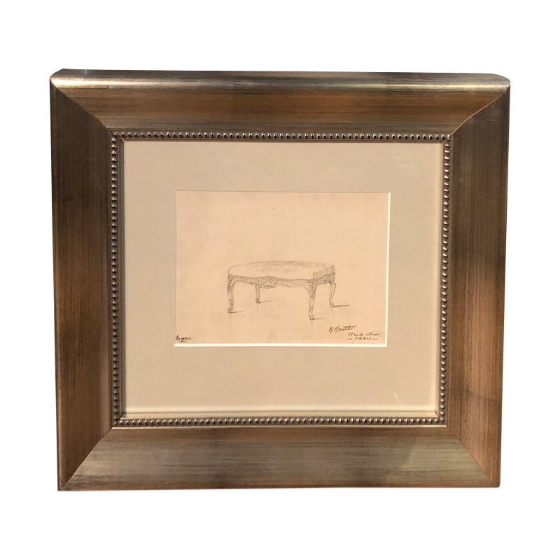 M Mantelet Original Framed Drawing