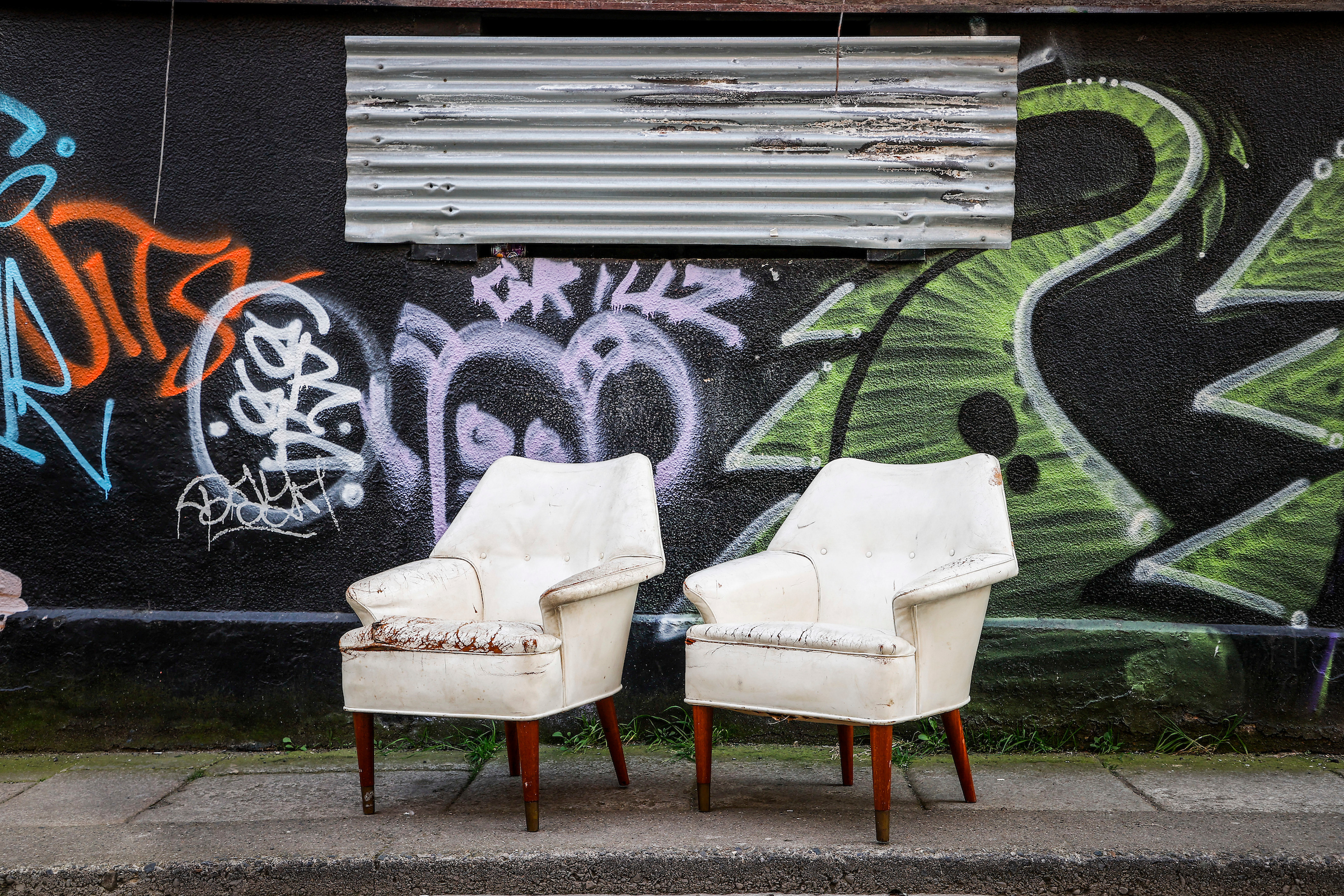 MAPLE & CO LONDON ARM CHAIRS