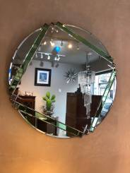 AN ORIGINAL LARGE ART DECO MIRROR
