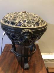 RARE GERMAN ART NOUVEAU LIDDED OCCASIONAL LAMP