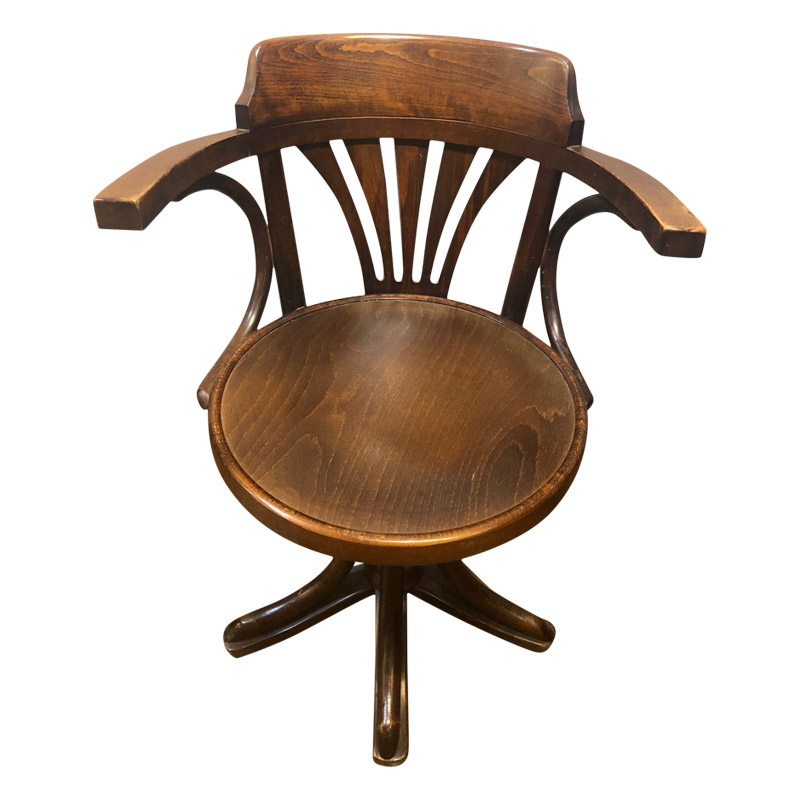 VINTAGE BENTWOOD SWIVEL DESK CHAIR