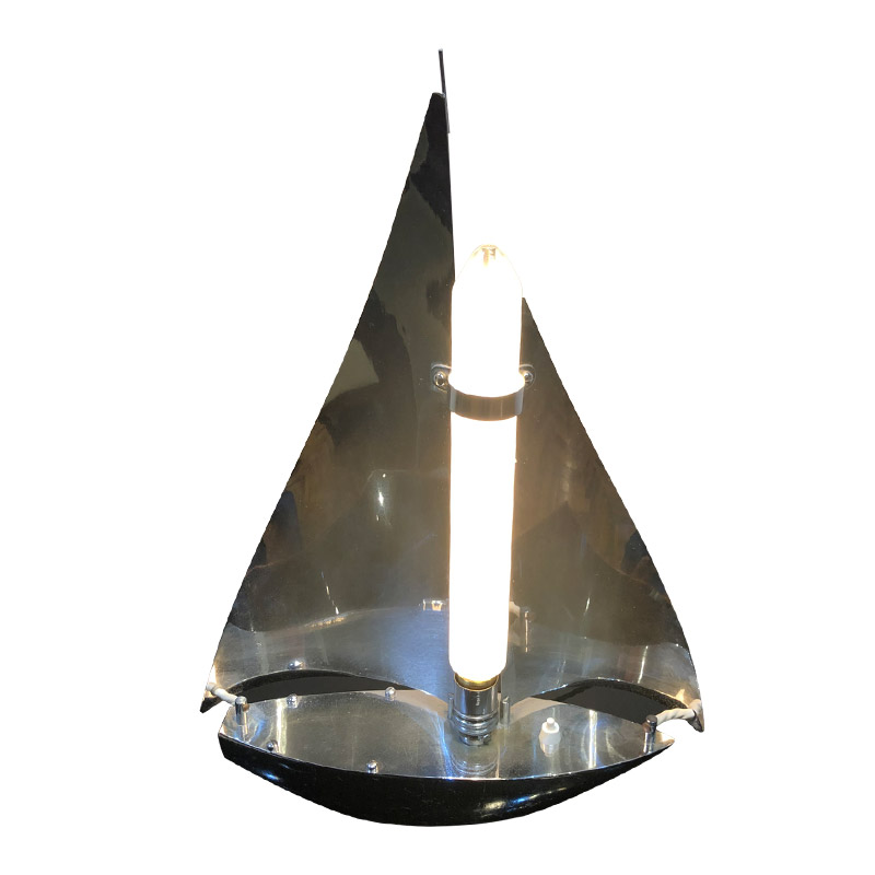 ORIGINAL ART DECO LAMP IN THE FORM OF A SAILING BOAT