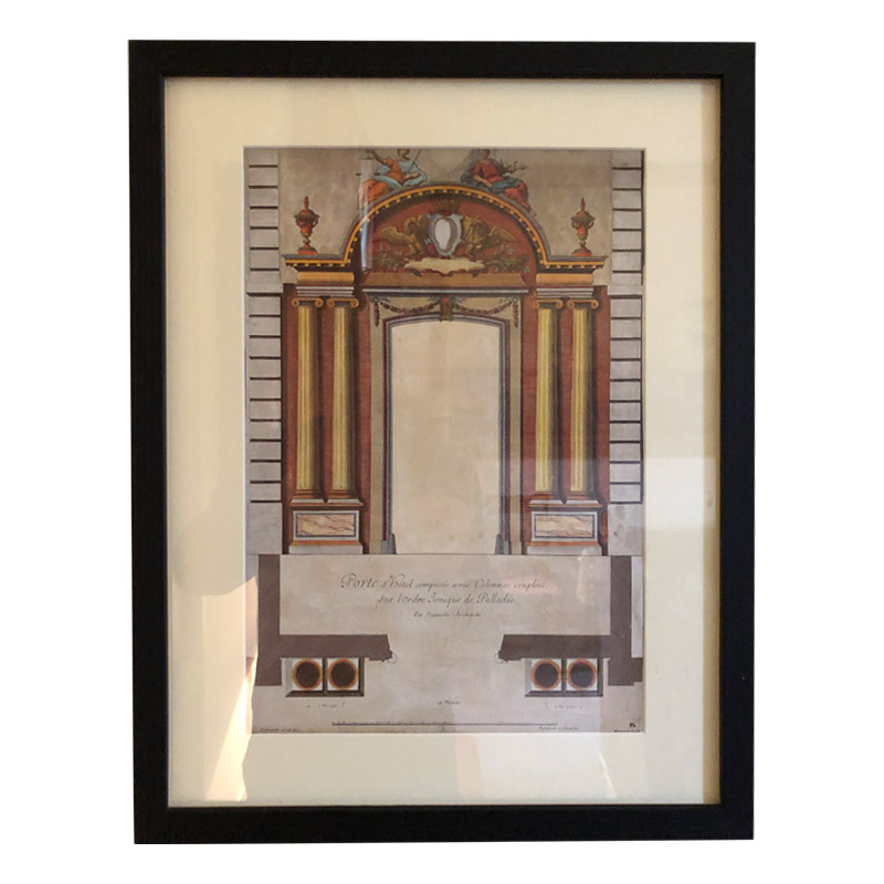 SET OF 7 ARCHITECTURAL FRAMED PRINTS