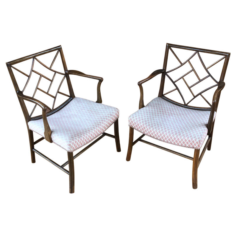 A VERY STYLISH PAIR OF SIDE CHAIRS