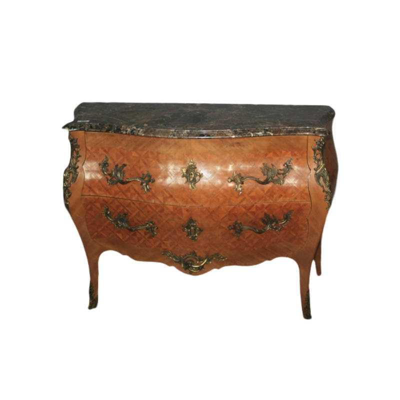 FINE ANTIQUE BOMBAY SHAPED COMMODE
