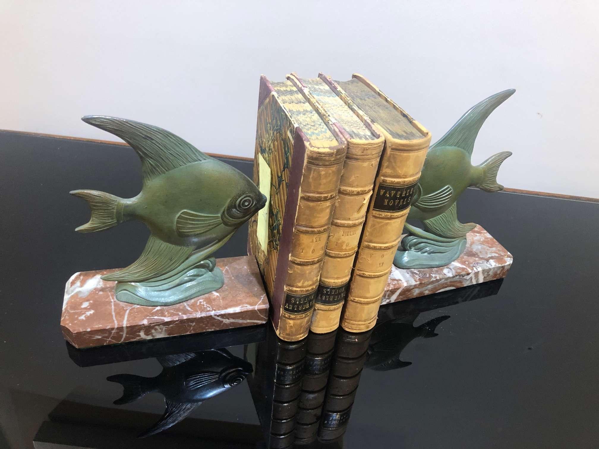 ART DECO BOOK ENDS